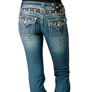 Miss Me Jeans Embellished Flap Pockets